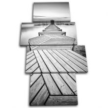 Wooden jetty Sunset Seascape - 13-0564(00B)-MP04-PO